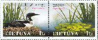 Охраняемые флора и фауна Литвы, 2м в сцепке; 1.0 Лит х 2