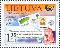 История литовской почты, 1м; 1.35 Лит