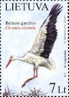 Национальная птица Литвы. Белый аист, 1м; 7.0 Литов