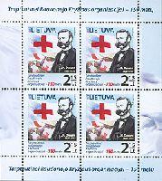 Красный Крест, Анри Дюнан, М/Л из 4м; 2.15 Лита х 4