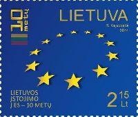 10 лет членства Литвы в EC, 1м; 2.15 Лита
