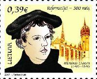 500 лет Реформации, 1м; 0.39 Евро