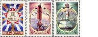 "3rd overprint set on USSR commemoratifs ""Beacons"" & ""Cuba"", 3v; 50, 100, 300 LV000R"