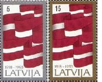 75y of Independence of Latvia, 2v; 5, 15s