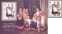Folk costumes, Barta, 1v + Block; 8, 100s