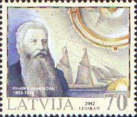Латышский мореплаватель Кристианс Йоханс Далс, 1м; 70c