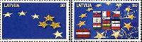 Вступление Латвии в Объединенную Европу, 2м; 30c х 2