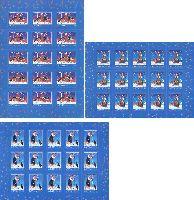 Рождество'05, самоклейки, 3 М/Л из 15 серий
