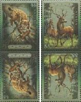Фауна, Рысь и Олень, тет-беш, 4м; 45, 55с x 2
