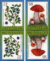 Флора, Ягоды, Грибы, тет-беш, 4м; 22, 58c x 2