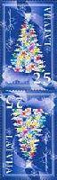 Новый Год и Рождество'08, тет-беш, 2м; 25c x 2