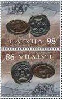 800-летие Рижскому пфеннигу, тет-беш, 2м; 98c x 2