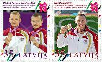 Спортсмены Латвии - призеры Олимпиады в Лондоне'12, 2м; 0.35с х 2