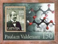 Ученый-химик Пауль Вальден, блок; 100с