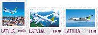 Персональные марки, Авиация, 3м; 0.50, 0.78, 0.85 Евро
