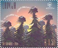 """Гордость Латвии """"Поющие деревья"""", 1м; 0.50 Евро"""