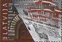 25-летие принятия Конституционного закона Латвии, 1м; 0.50 Евро