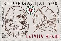 500 лет Реформации, 1м; 0.85 Евро