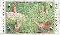WWF, Птицы, 4м в квартблоке; 3.0 Лей x 4