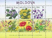 Флора, Полевый цветы, М/Л из 4м; 1.20, 1.50, 3.0, 4.50 Лей