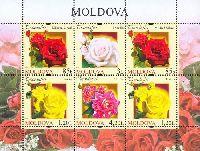 Флора, Розы, М/Л из 6м; 0.85, 1.20 Лея х 2, 3.0, 4.20 Лея