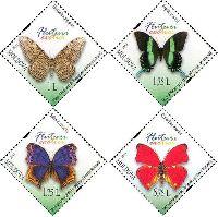 Фауна, Бабочки, 4м; 1.0, 1.75, 1.75, 5.75 Лей