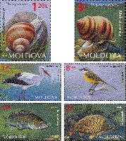 Фауна Молдовы, 6м; 1.20, 1.50, 1.75, 2.0, 3.0, 8.50 Лей