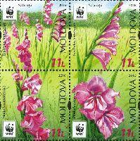 WWF, Флора, тип II, 4м в квартблоке; 11.0 Лей x 4