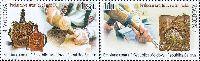 Совместный выпуск Молдова-Беларусь, Народные ремесла, 2м в сцепке; 1.75, 11.0 Лей