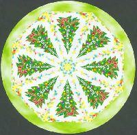 С Новым годом, самоклейка, круглый М/Л из 8м; 5.0 руб x 8