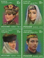 Традиционные головные уборы Татарстана, 4м; 11.0 руб x 4