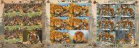 Фауна, Львы и тигры, беззубцовые 3 М/Л из 5 серий и купона