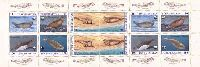 WWF, Seals, M/S of 10v; 15, 25, 50, 100, 150, 500 M x 2