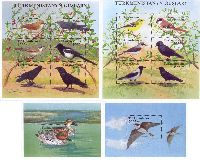 Fauna, Birds, 2 Blocks + 2 М/S of 6v; 3000 M x 12, 5000 M x 2