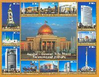 Turkmenistan's Modern Architecture, M/S of 12v; 3000 M x 8, 5000 M x 4
