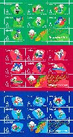 "Asian Games, Ashgabat'17, Talismans, 3 Blocks of 8v; ""A"" х 24"