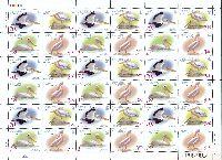WWF, Розовый пеликан, лист из 9 серий