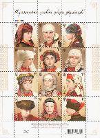 Традиционные головные уборы украинок, М/Л из 12м; 1.0 Гр x 12