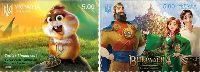 Украинские мультфильмы, самоклейки, 2м; 5.0 Гр х 2