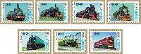Locomotives, 7v; 18, 18, 28, 36, 56, 56, 69 Sum