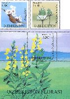 Флора Узбекистана, 2м + блок; 1300, 1500, 3200 Сум